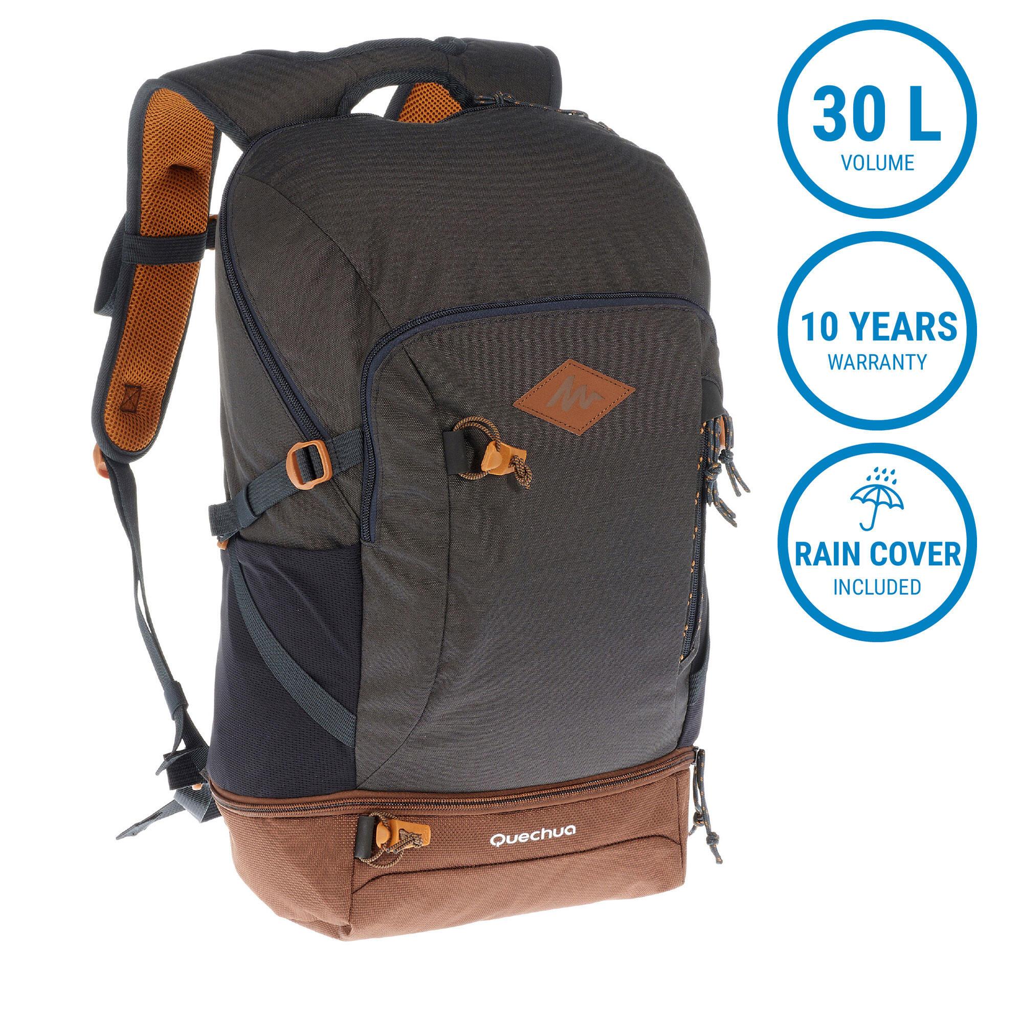 Hiking Bag 30 Litre (with Raincover) NH500 - Dark Grey