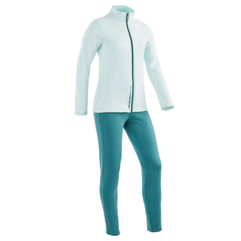 [EN] FEMALE LEISURE GYMNASTICS TRACKSUITS Jimnastik - WARM'Y 100 EŞOFMAN TAKIM DOMYOS - All Sports
