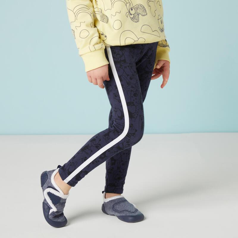 Warme legging voor kleutergym marineblauw