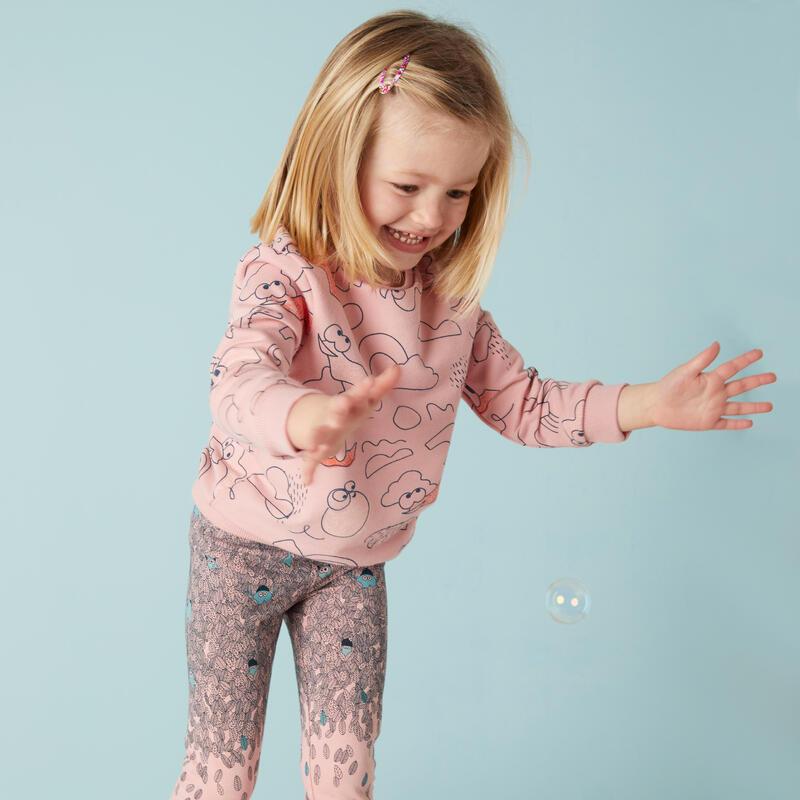 Kids' Baby Gym Sweatshirt Decatoons - Pink Print