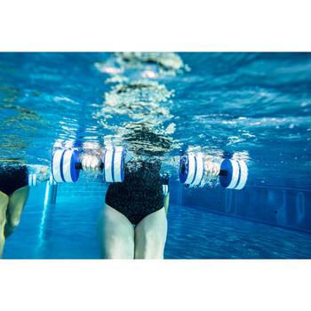 Par de Halteres Aquáticos Espuma Hidroginástica / Aquafitness Branco Azul