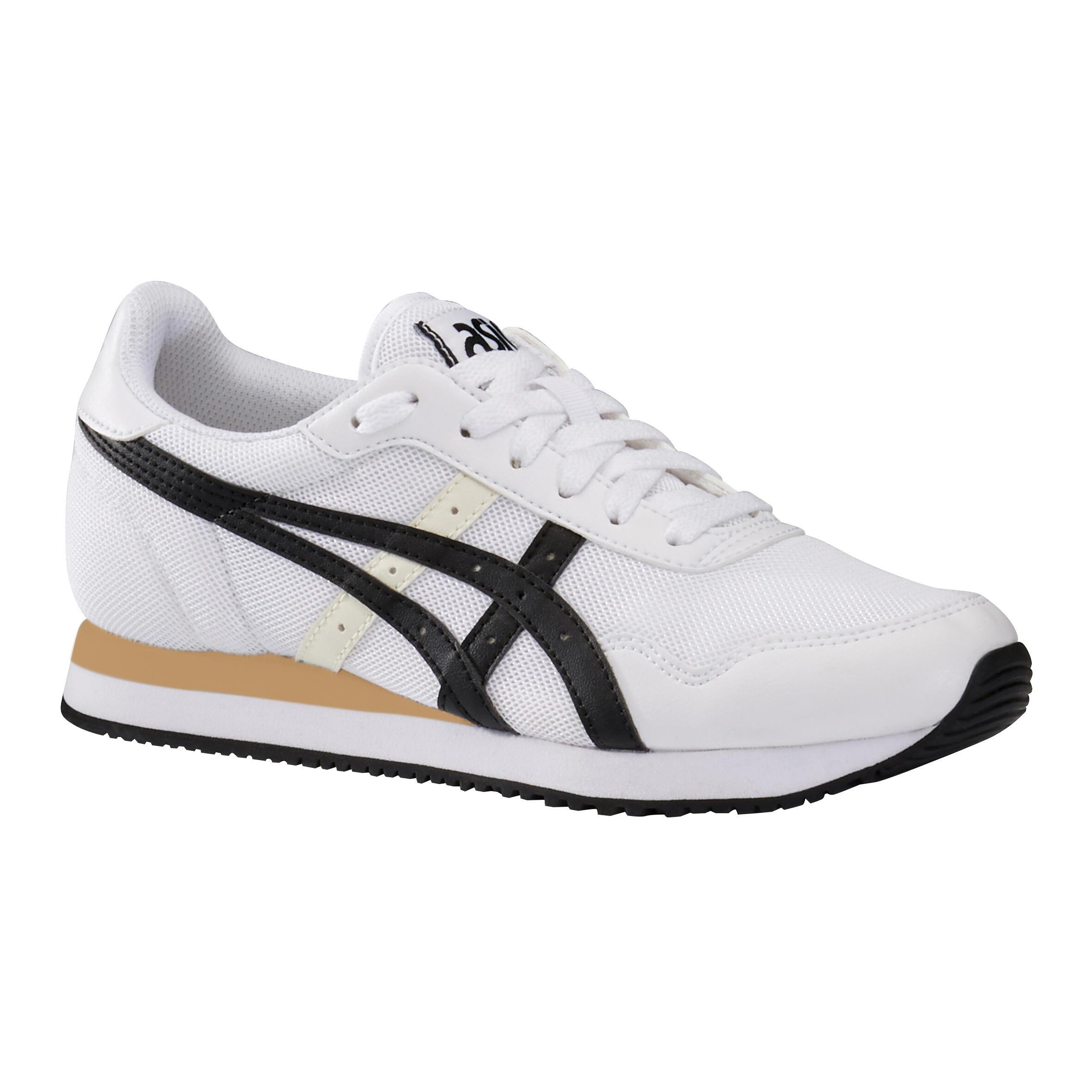 Chaussures marche active femme Asics tiger mesh blanc / noir ASICS ...