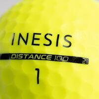 Pelota Golf Distance 100 x12 Amarillo