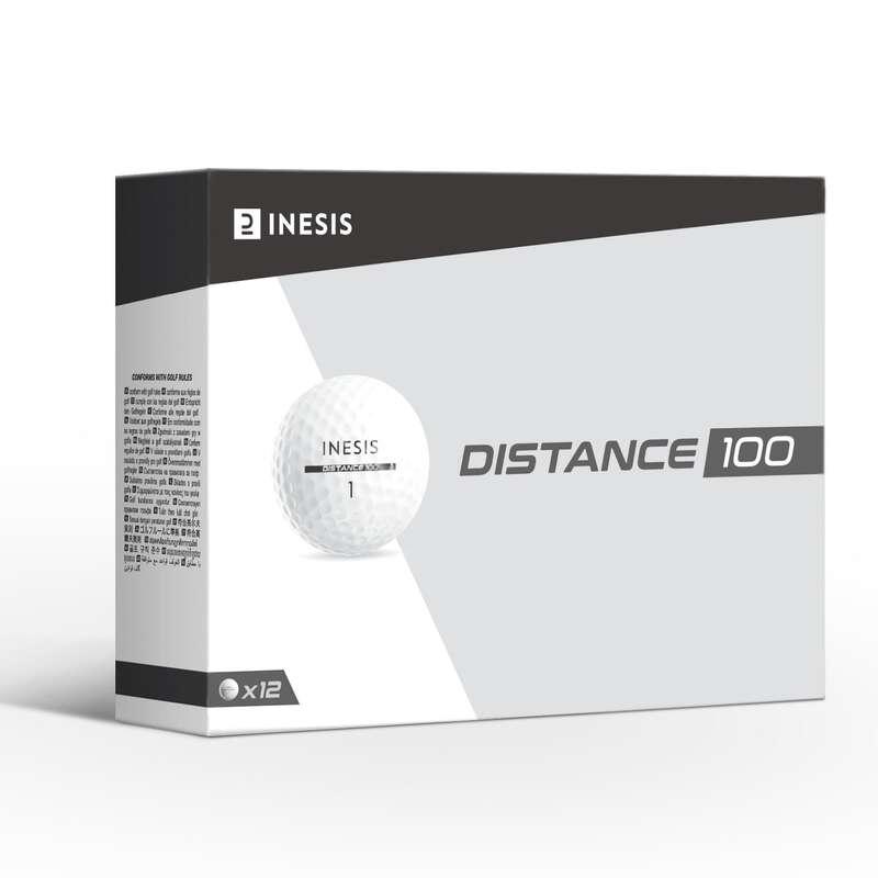 Golfbälle Golf - Golfbälle Distance 100 12 Stk. INESIS - Zubehör