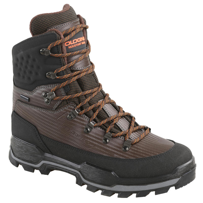 CHAUSSURES CHASSE IMPERMEABLES RESISTANTES MARRON CROSSHUNT 900 V2