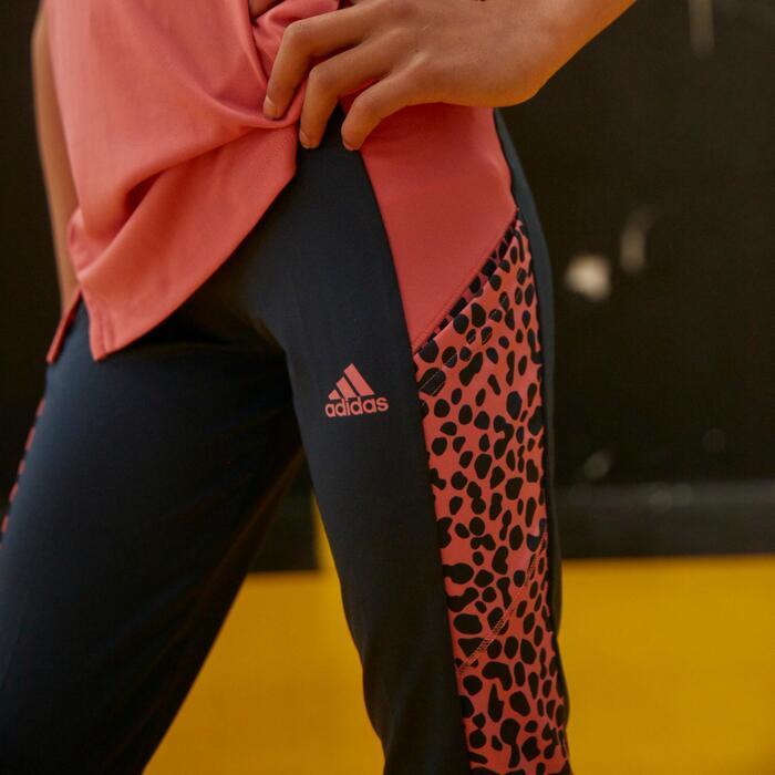 Leggings Leopardenmotiv Mädchen blau/rosa