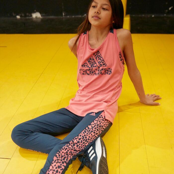 Top Leopardenmotiv Mädchen rosa/blau