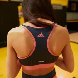 Sport-Bustier Leopardenmotiv Gym Mädchen rosa/blau