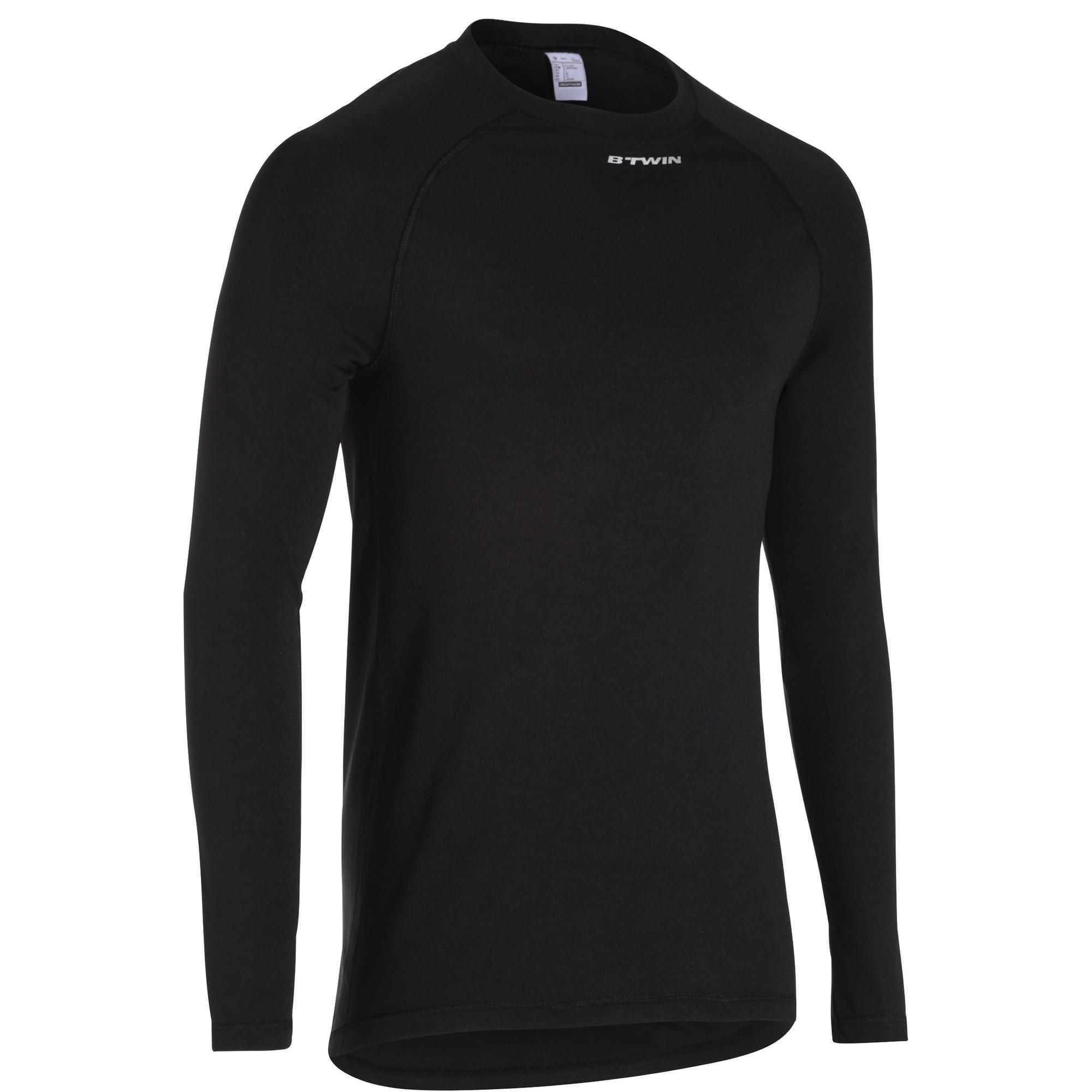 Fahrrad-Unterwäsche Langarm-Funktionsshirt 100 Herren schwarz | Sportbekleidung > Funktionswäsche > Thermounterwäsche | Schwarz | B´twin