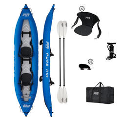 CANOE KAYAK GONFLABLE AQUAMARINA PURE AIRE 2 PLACES