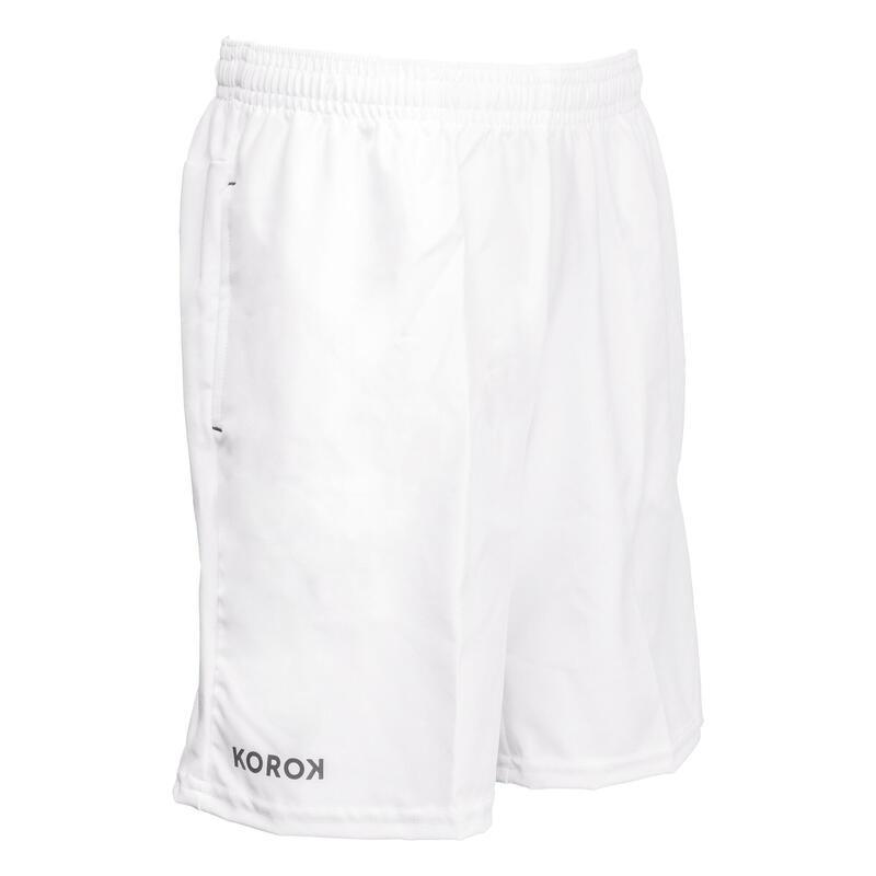 FH500 Boys' Field Hockey Shorts - White