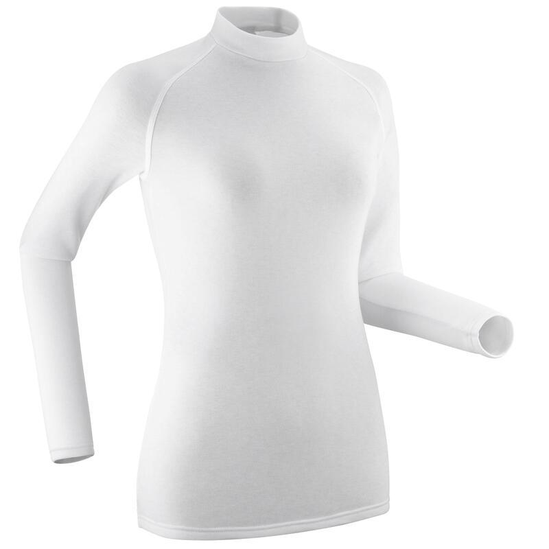 Sous-vêtement de ski femme haut 100 Blanc