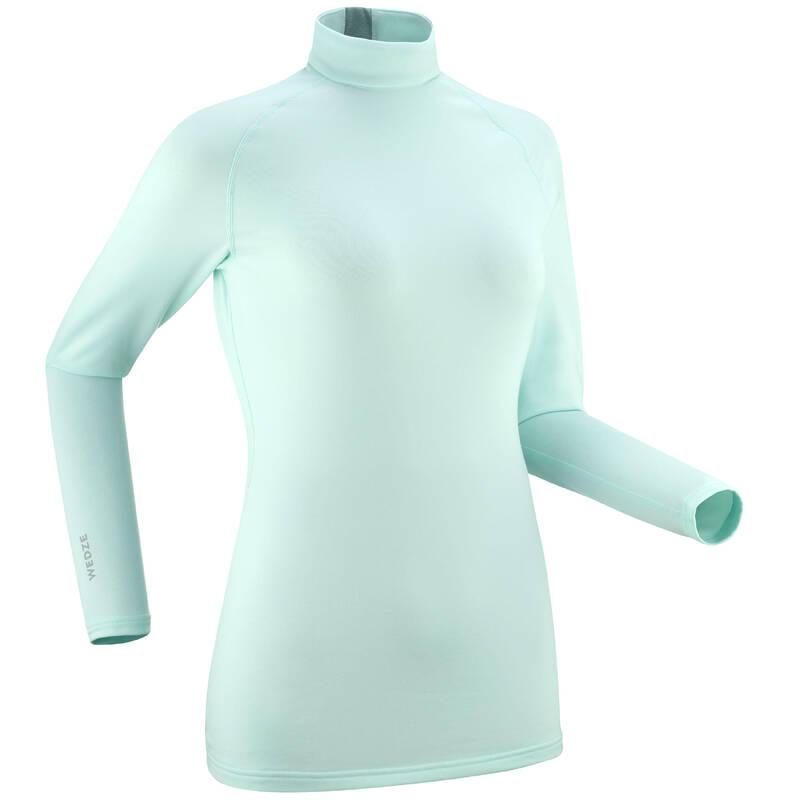 Dámske spodné tričko ski 500 mentolové