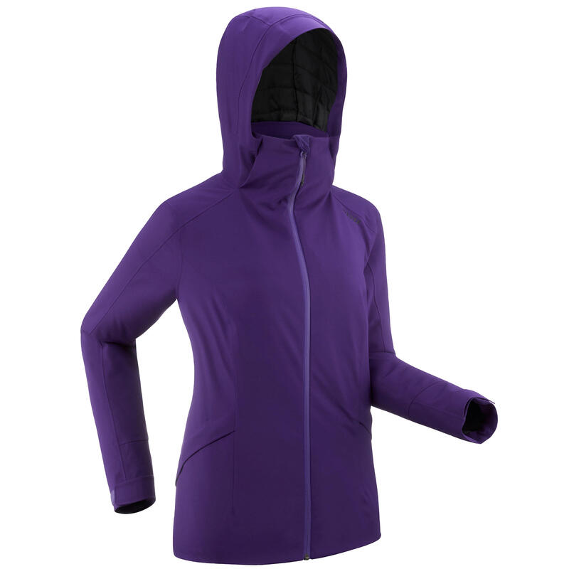 Women's Warm Ski Jacket 500 Purple