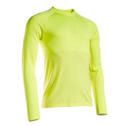 T-shirt manica lunga running uomo KIPRUN CARE gialla