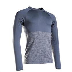 T-shirt manica lunga running uomo KIPRUN CARE edizione limitata grigia