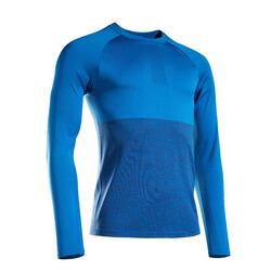T-shirt manica lunga running uomo KIPRUN CARE blu