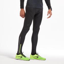 Pantaloni compressivi running uomo KIPRUN neri