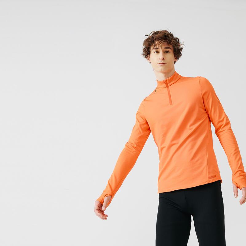 Bluză Călduroasă Alergare Jogging Portocaliu Bărbați