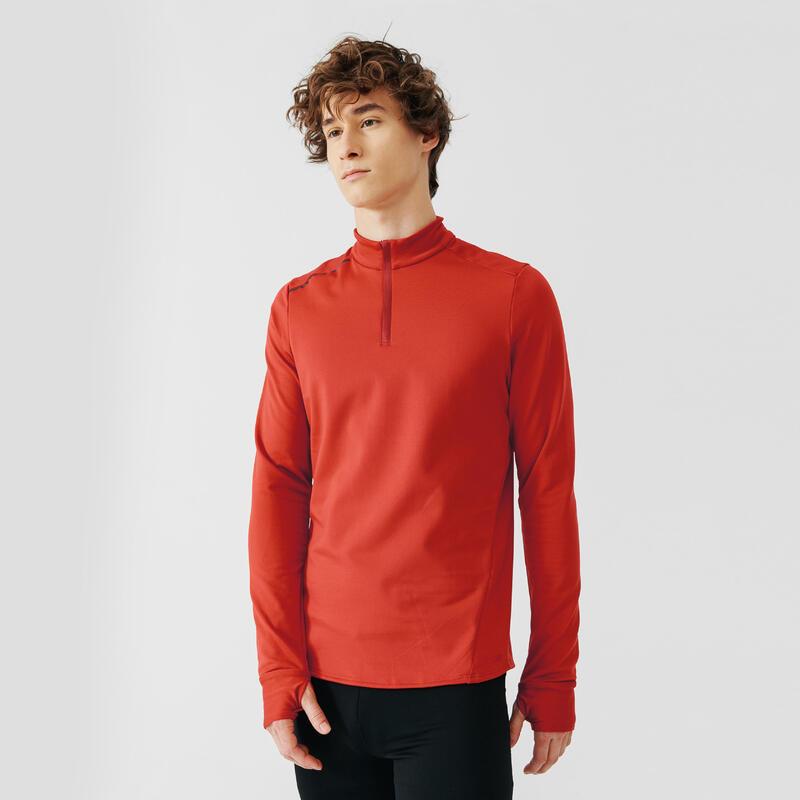 Bluză Călduroasă Alergare Jogging Warm Roșu Bărbaţi