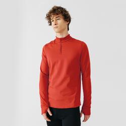 Maglia manica lunga running uomo rossa