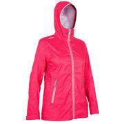 Temno rožnata ženska jadralna jakna 100