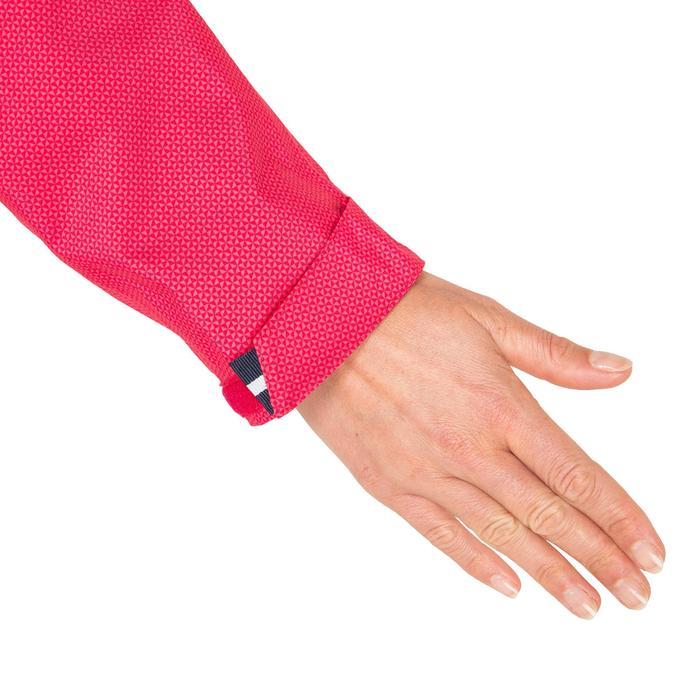 Chubasquero náutico 100 mujer AO rosa oscuro