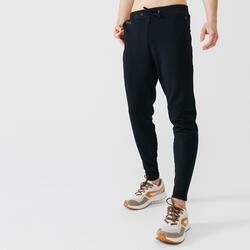 男款慢跑長褲RUN WARM+-黑色