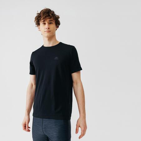 Men's Breathable Running Jogging T-Shirt Dry Black - Kalenji