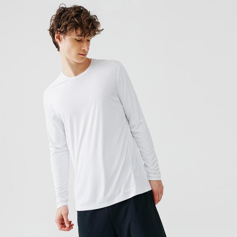 Pánské běžecké tričko s UV ochranou bílé