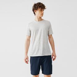 男款跑步T恤RUN DRY+白色
