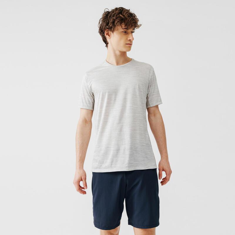 Erkek Bej Kırçıllı Tişört / Koşu - RUN DRY +