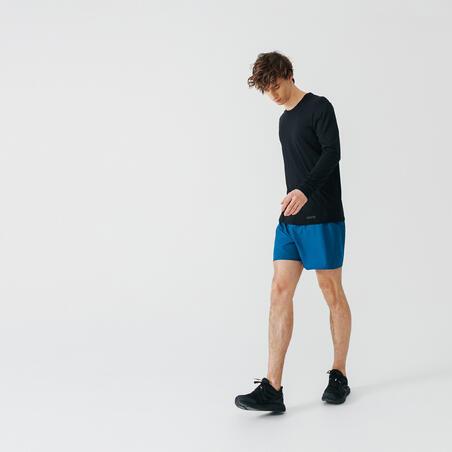 Pantaloneta Corta para correr Hombre Run Dry Azul Oscuro