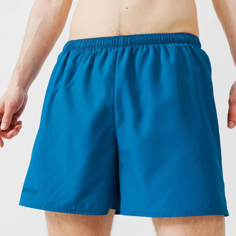 PÁNSKÉ OBLEČENÍ NA JOG - TEPLÉ POČASÍ, PŘÍLEŽITOSTNÉ POUŽITÍ Běh - KRAŤASY RUN DRY MODRÉ KALENJI - Běžecké oblečení