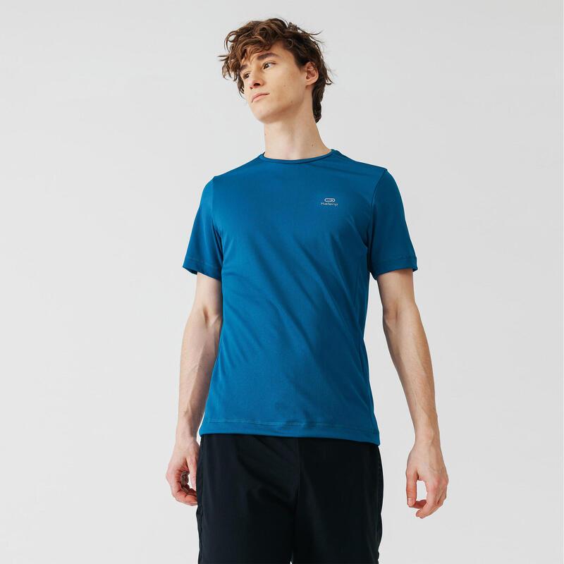 Camiseta Running Kalenji Dry Hombre Azul Prusia Transpirable
