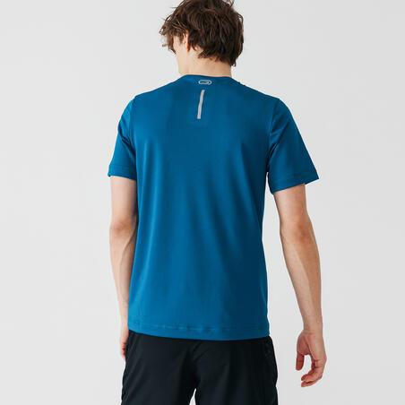 Playera Running Kalenji Dry Hombre Azul Prusia Transpirable