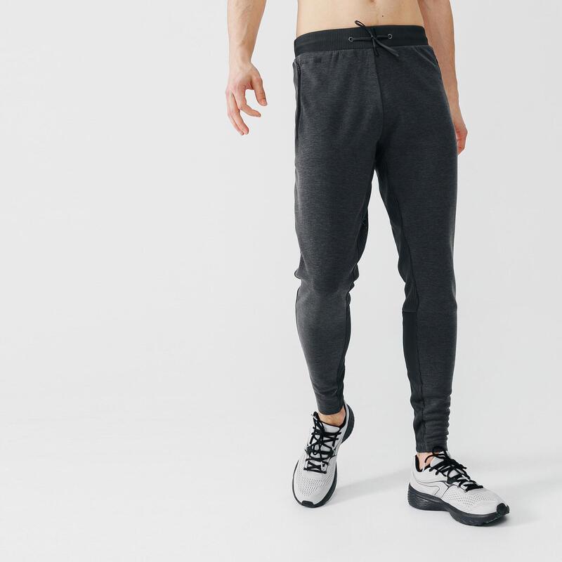 Pantalón Running Kalenji Warm+ Hombre Gris