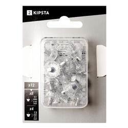 Schraubstollen Universal Fussball Transparent Aluminium 11–13 mm
