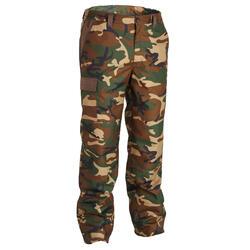 Pantaloni caccia caldi impermeabili 100 mimetici