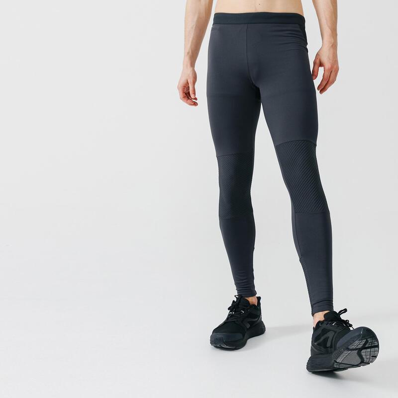 Men's Running Tights Kalenji Warm+ - charcoal grey