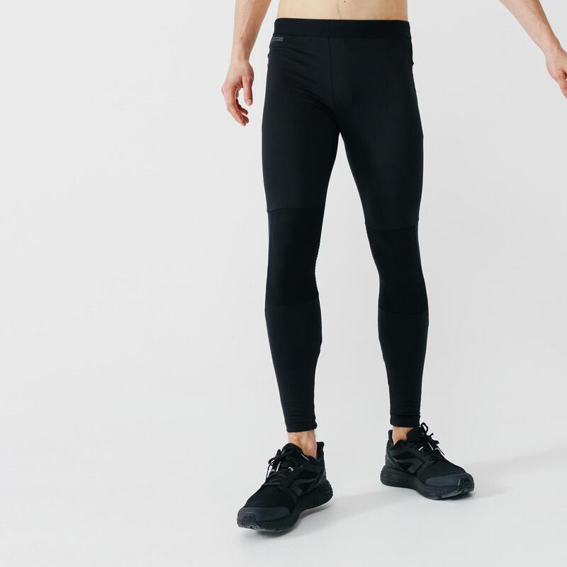 Colanți Alergare Jogging Warm+ Negru Bărbaţi