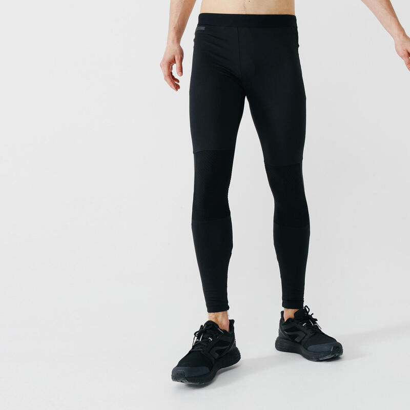 Kalenji Warm+ Men's Running Tights - black