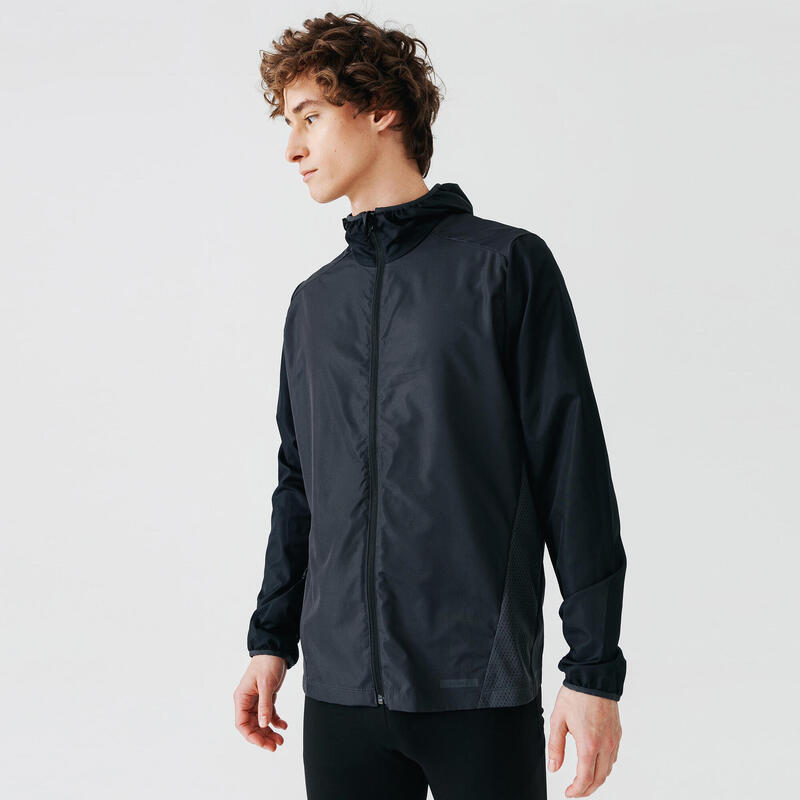 Run Wind Men's Running Windproof Jacket - black
