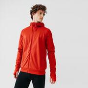 Kalenji Warm+ Men's Running Zipped Hoodie Sweatshirt - Brick Red