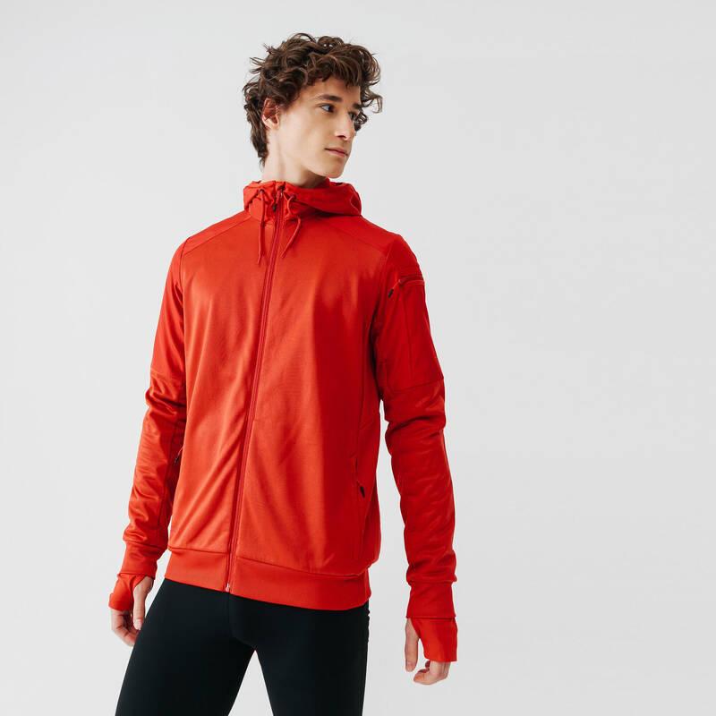 PÁNSKÉ OBLEČENÍ NA JOGGING DO CHLADNÉHO POČASÍ, PRAVIDELNÉ POUŽITÍ Běh - BUNDA RUN WARM+  KALENJI - Běžecké oblečení