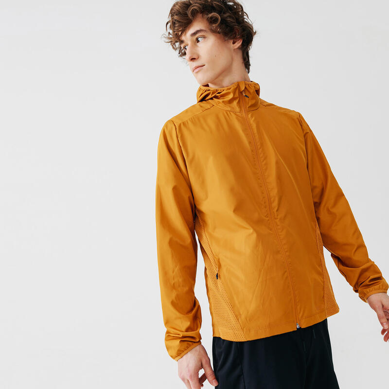 Run Wind Men's Running Wind Jacket - brown ochre