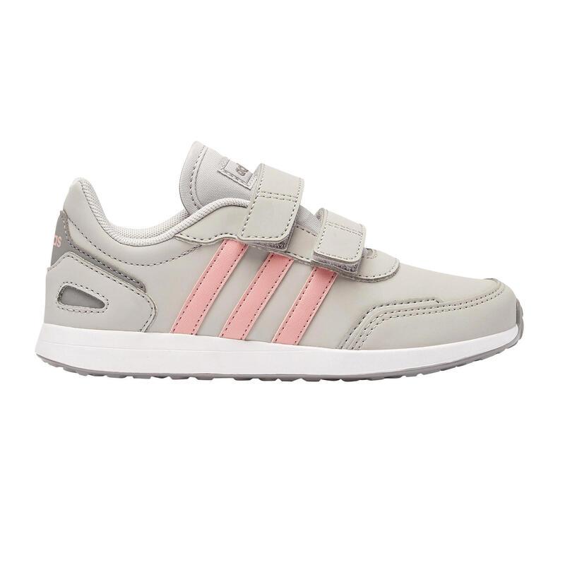 Scarpe con strap camminata bambino Adidas SWITCH grigio-rosa