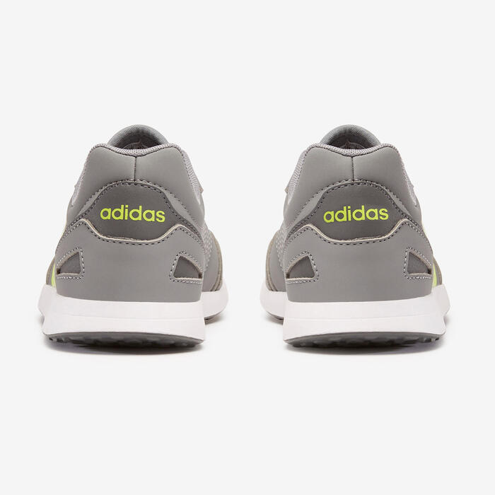 Adidas Switch kid's walking shoes grey/yellow laces