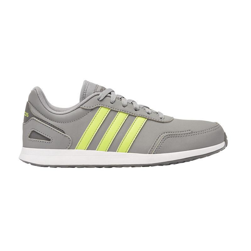 Chaussures marche enfant Adidas Switch gris / jaune lacets