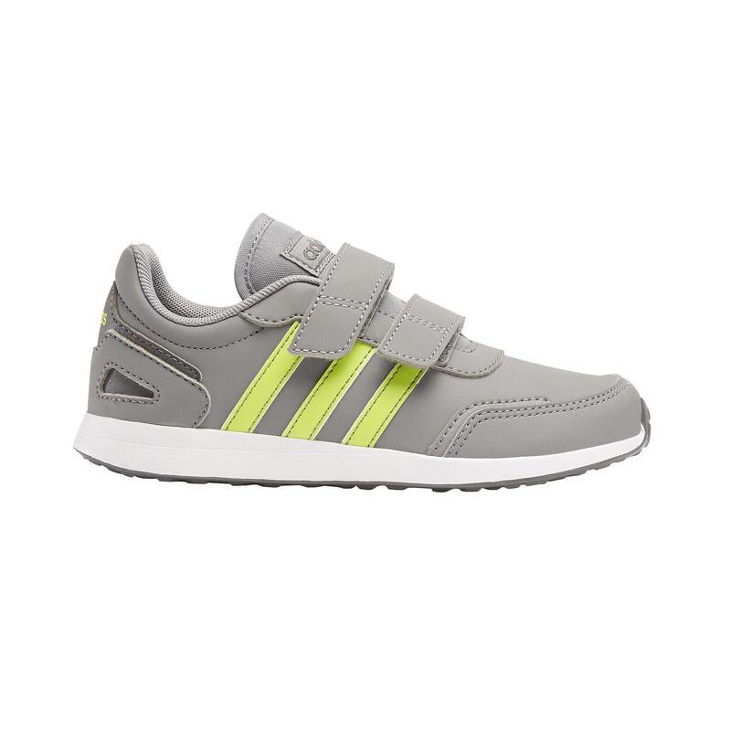 Chaussures marche enfant Adidas Switch gris/jaune velcro